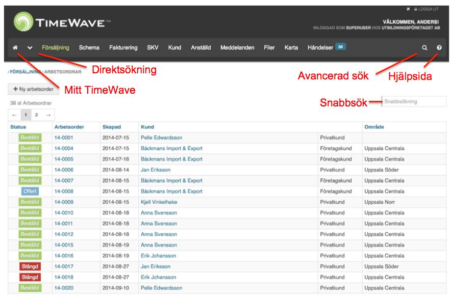 navigering - TimeWave