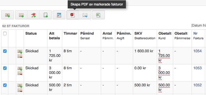 skapa pdf fakturor